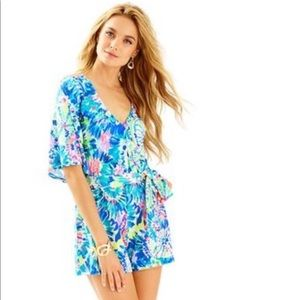 """Lilly Pulitzer Madilyn Romper in """"Dive In"""""""